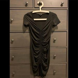 Fashion Nova Black Ruched Dress